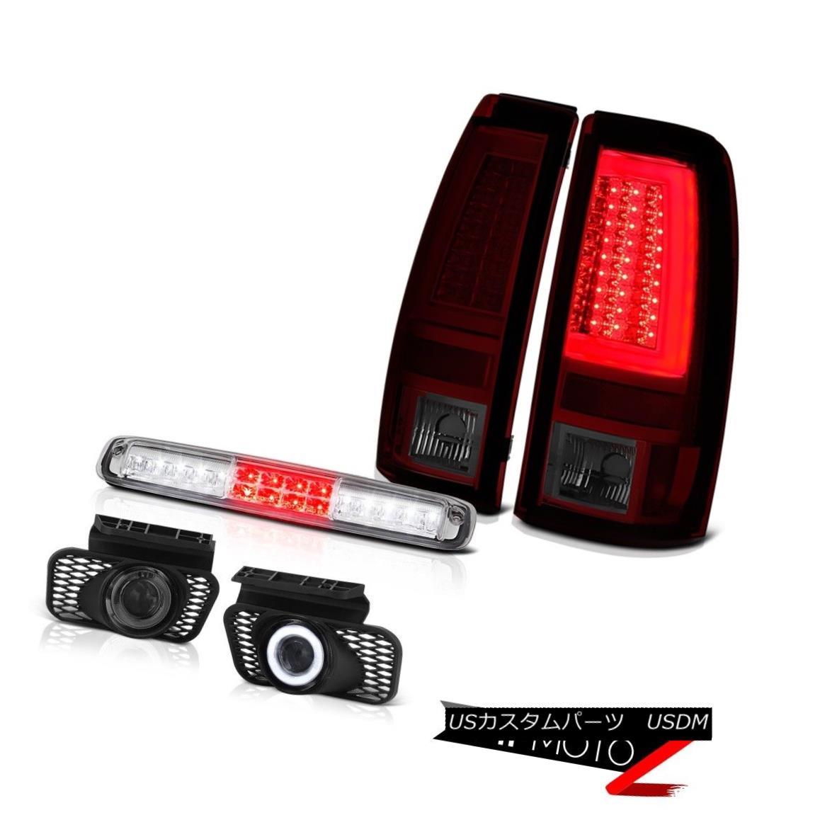 テールライト 2003-2006 Silverado Smokey Red Rear Brake Lamps Roof Light Foglamps Light Bar 2003-2006シルバラードスモーキーレッドリアブレーキランプルーフライトフォグランプライトバー