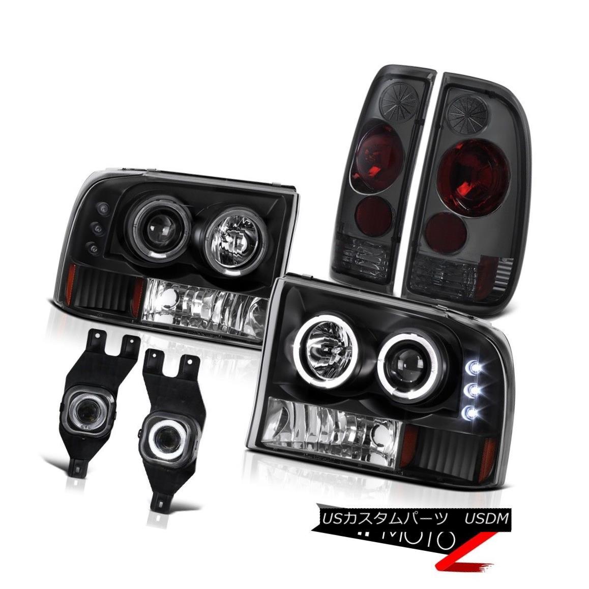 テールライト F250 F350 F450 SuperDuty Diesel Brightest LED Halo Ring Headlight Tail Lamp Fog F250 F350 F450 SuperDutyディーゼルブライトネスLEDハローリングヘッドライトテールランプフォグ