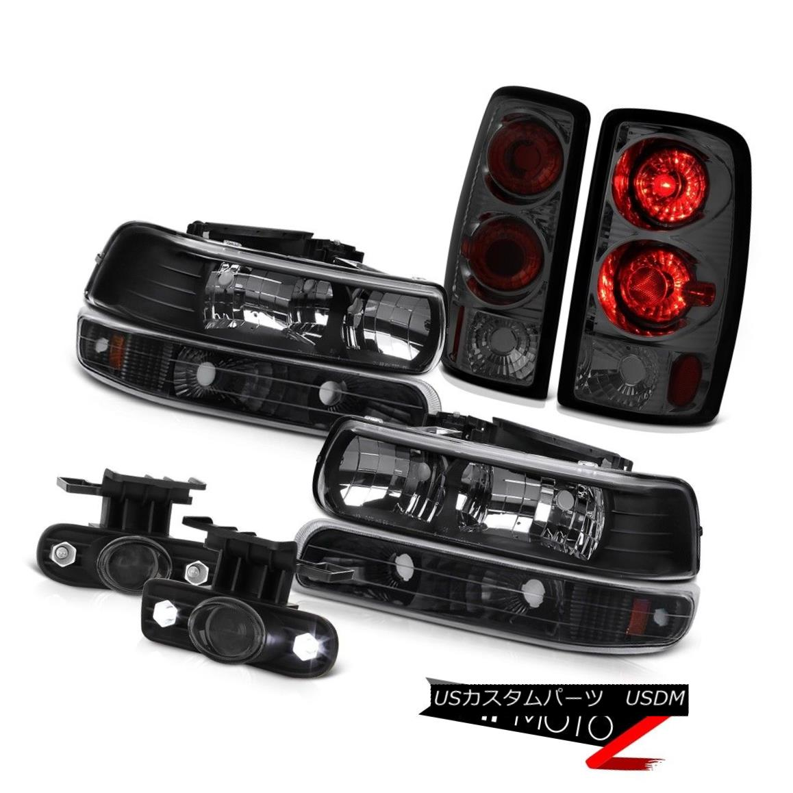 テールライト Pair Black Headlights Parking Smoke Red 00-06 Tahoe LS Tail Lights Projector Fog ペアブラックヘッドライトパーキングスモークレッド00-06 Tahoe LSテールライトプロジェクターフォグ