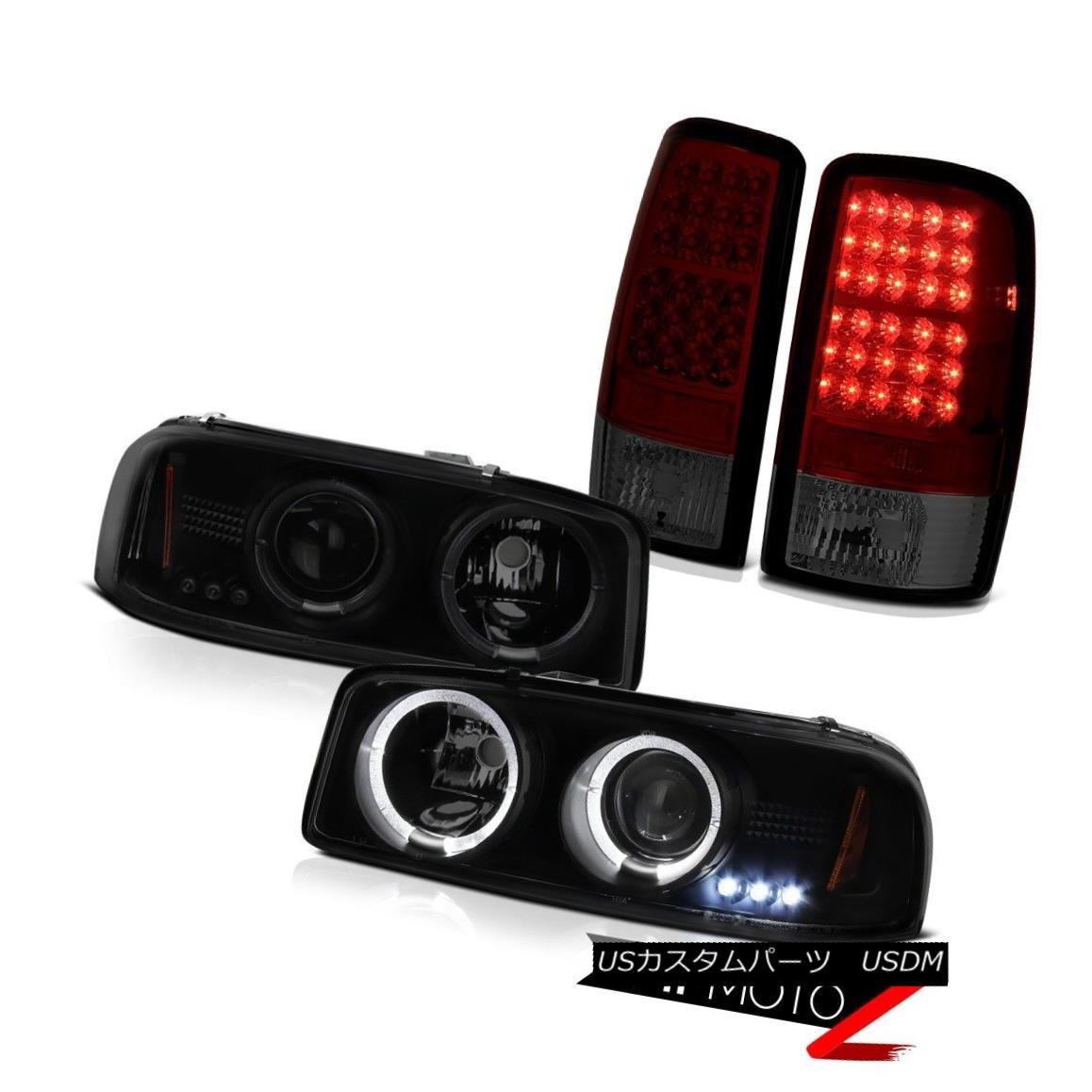 テールライト 00 01 02 03 04 05 06 Yukon Dual Angel Eye Headlights LED Red Smoke Tail Lights 00 01 02 03 04 05 06ユーコンデュアルエンジェルアイヘッドライトLEDレッド煙テールライト