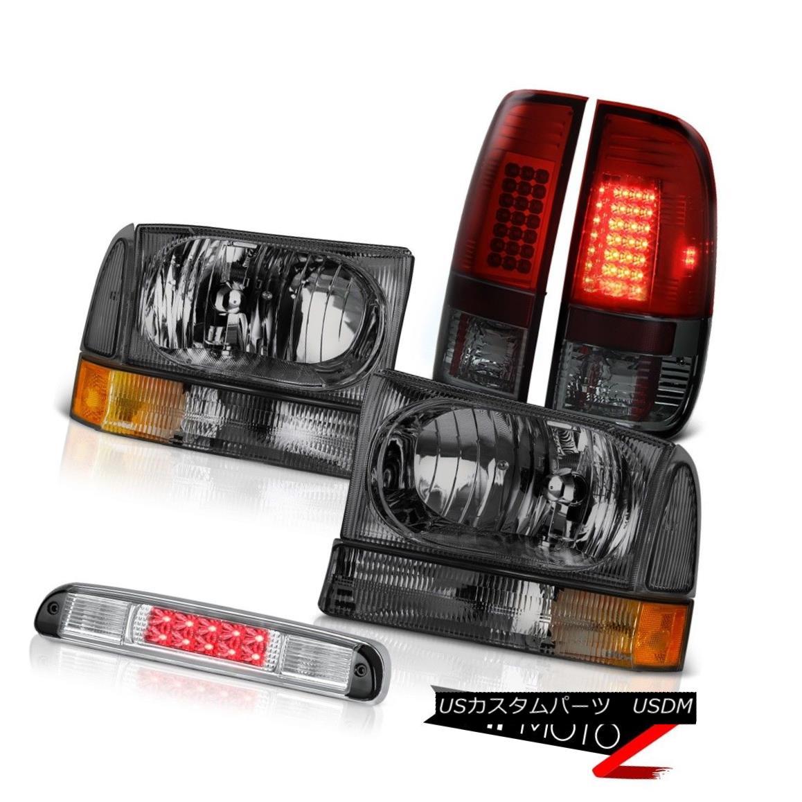 テールライト Crystal Headlights Red Smoke Tail Lights Roof LED 3rd 99 00 01 02 03 04 F350 XLT クリスタルヘッドライト赤煙テールライトルーフLED 3rd 99 00 01 02 03 04 F350 XLT