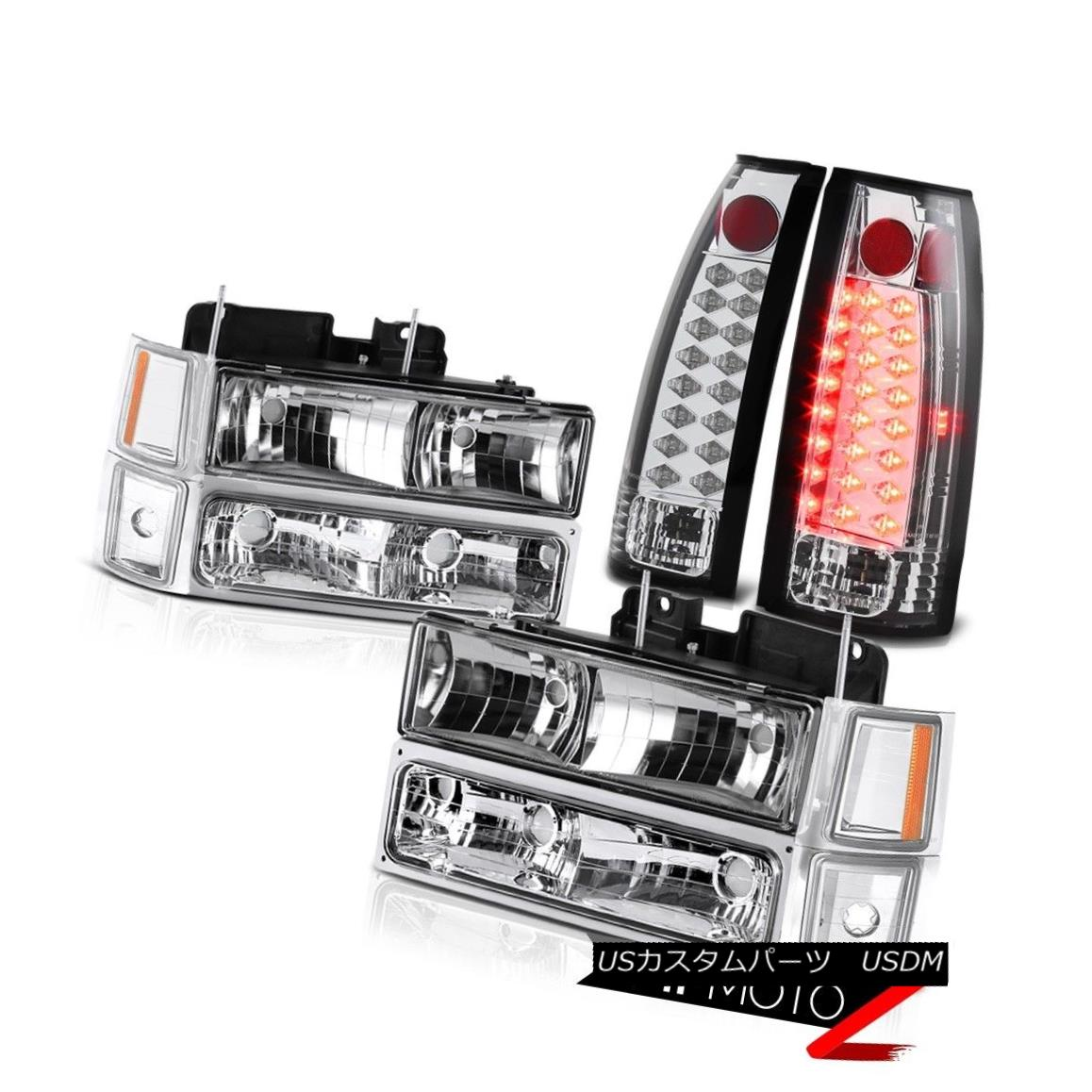 テールライト EURO CHROME LED TAILLIGHTS TAILLAMPS GLASS HEADLIGHT HEADLAMPS SET LEFT RIGHT EURO CHROME LED TAILLIGHTS TAILLAMPSグラスライトヘッドライトヘッドライトセット