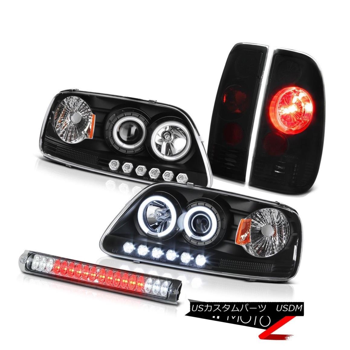 テールライト CCFL Halo Ring Black Head Lamp Light Rear Brake Tail 3rd Chrome Ford F150 97-03 CCFLハローリングブラックヘッドランプライトリアブレーキテール3rd ChromeフォードF150 97-03