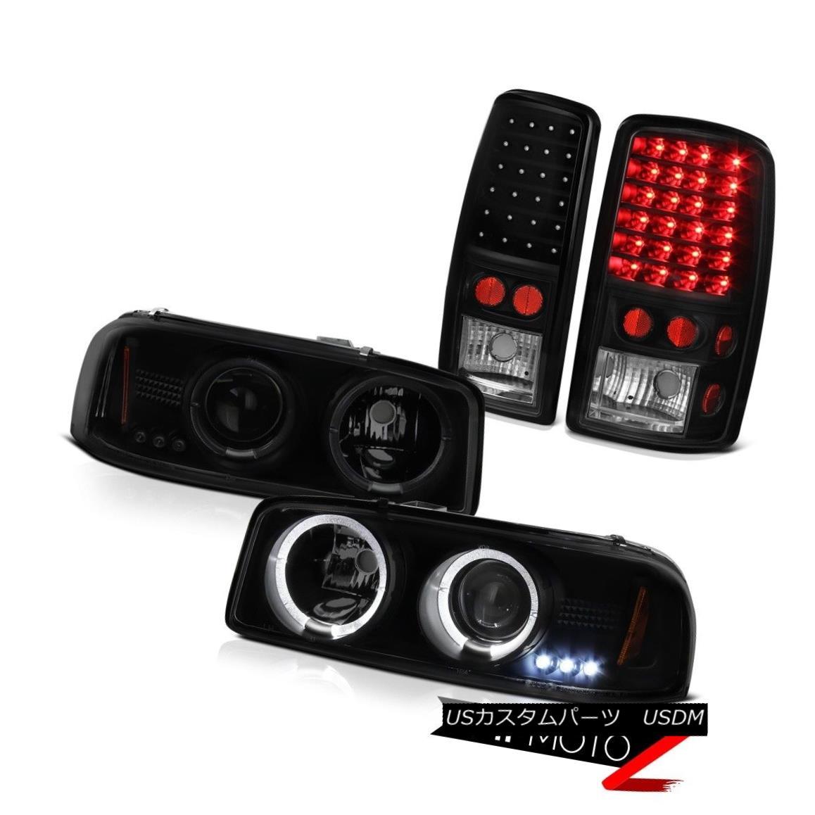 テールライト NEW GMC 00 01 02 03 04 05 06 Yukon XL Denali Dual Halo Headlights LED Tail Light NEW GMC 00 01 02 03 04 05 06ユーコンXLデナリデュアルヘイローヘッドライトLEDテールライト