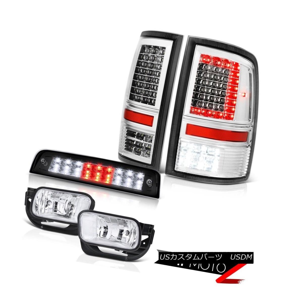 テールライト 09-18 Dodge RAM 3500 Black Brake Lights Led Tail Light Fog Lamp Replacement PAIR 09-18ダッジRAM 3500ブラックブレーキライトLedテールライトフォグランプ交換ペア