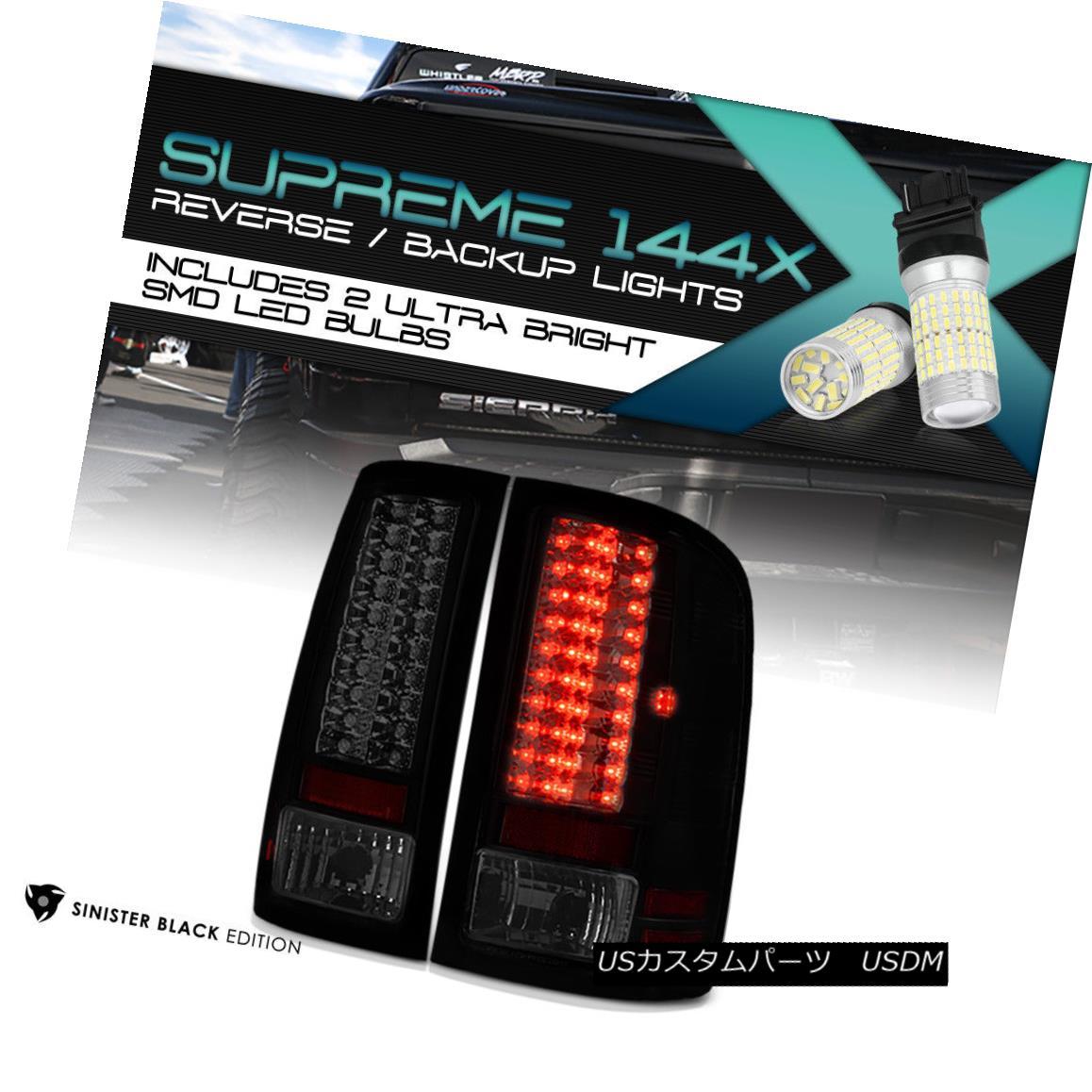 テールライト !360 Degree SMD Backup! GMC Sierra 07-13 Black Housing LED Tail Light Lamp Smoke 360度SMDバックアップ! GMC Sierra 07-13ブラックハウジングLEDテールライトランプスモーク