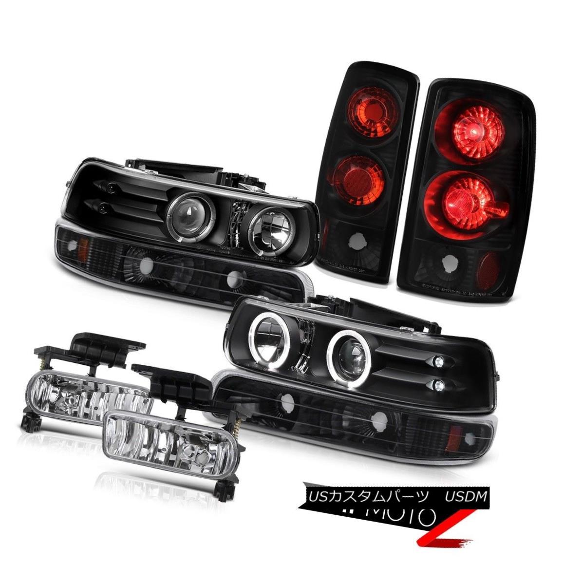 テールライト LED Angel Eye Projector Headlight Rear Black Taillamp Fog 2000-2006 Suburban LT LEDエンジェルアイプロジェクターヘッドライトリアブラックTaillamp Fog 2000-2006郊外LT