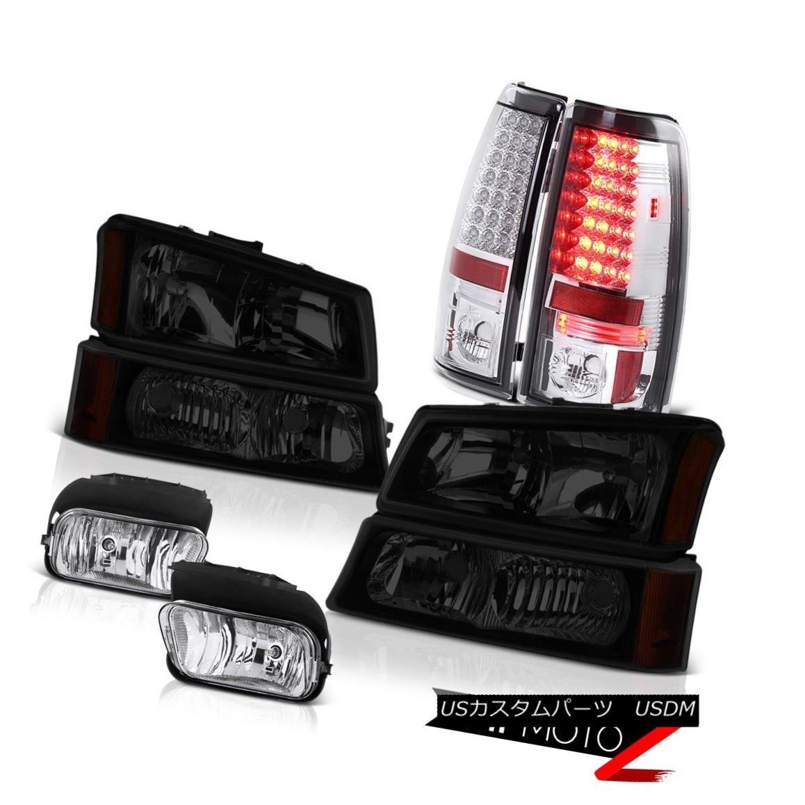 テールライト 03 04 05 06 Chevy Silverado 2500Hd Fog Lights Tail Brake Dark Tinted Headlights 03 04 05 06 Chevy Silverado 2500Hdフォグライトテールブレーキダークテントヘッドライト