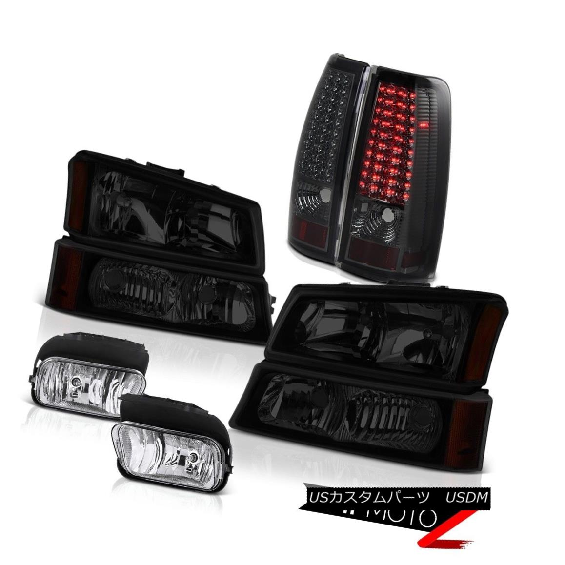 テールライト 2003-2006 Silverado 1500 Clear Chrome Foglamps Phantom Smoke Taillamps Headlamps 2003-2006 Silverado 1500クリアクロームフォグランプファントムスモークタイルランプヘッドランプ