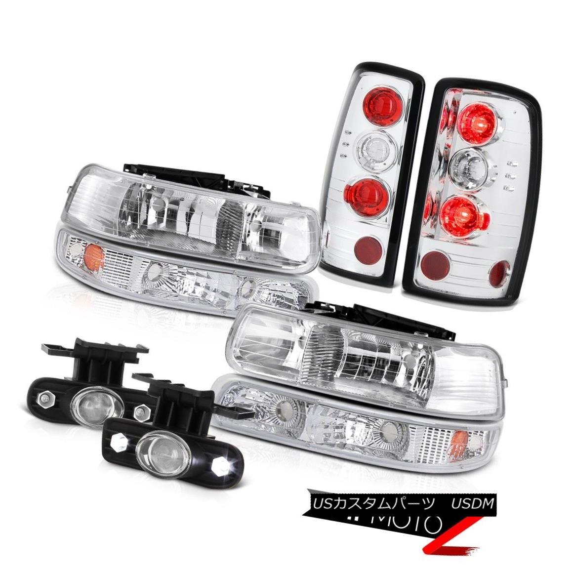テールライト 2000-2006 Chevy Suburban Barn Door Headlamps Tail Lights Signal Lamp Fog Lamps 2000-2006シボレー郊外の納屋ドアヘッドランプテールライト信号ランプフォグランプ