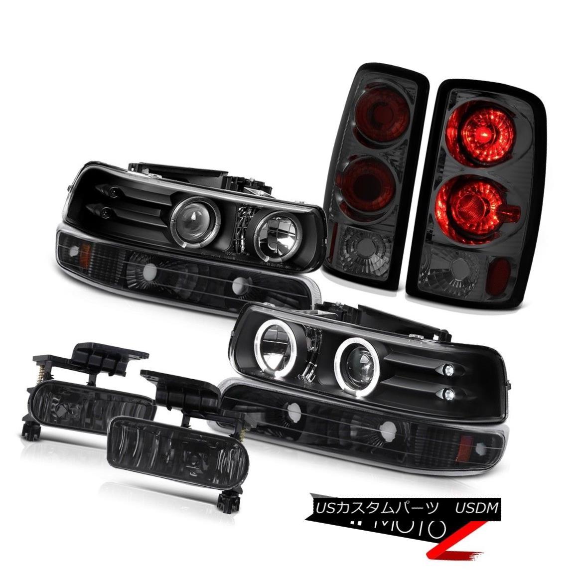 テールライト LED Angel Eye Projector Black Signal Rear Tail Lights Foglights 2000-2006 Tahoe LEDエンジェルアイプロジェクターブラック信号リアテールライトフォグライト2000-2006タホ