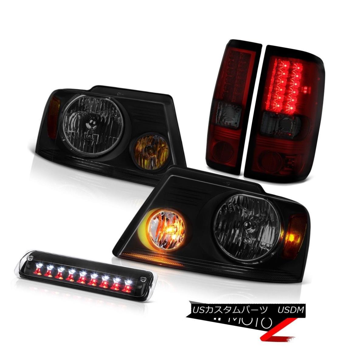 テールライト 04-08 Ford F150 FX4 Headlights Raven Black Roof Brake Lamp Tail Lights OE Style 04-08 Ford F150 FX4ヘッドライトRaven Black屋根ブレーキランプテールライトOEスタイル