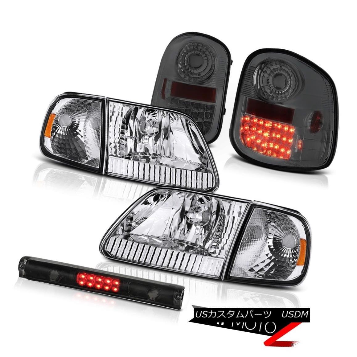 テールライト Headlights Bumper Tinted LED Brake Lights Roof Stop 97-03 F150 Flareside Lariat ヘッドライトバンパーティンテッドLEDブレーキライトルーフストップ97-03 F150 Flareside Lariat