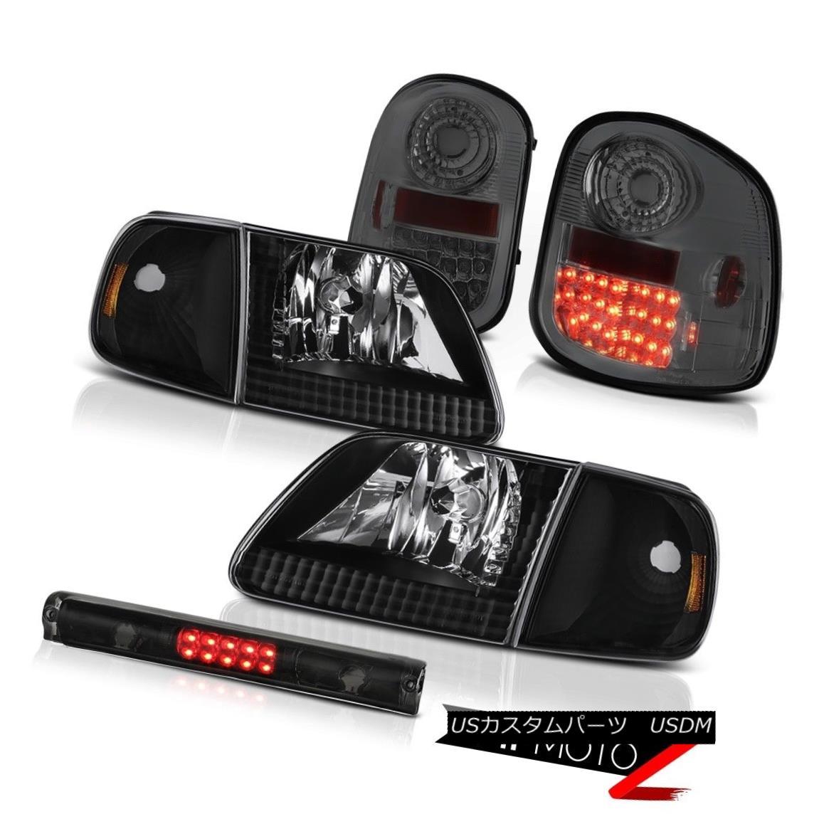 テールライト Headlights Smoke LED Tail Lamps High Brake Cargo 97-03 F150 Flareside Lightning ヘッドライトスモークLEDテールランプハイブレーキカーゴ97-03 F150 Flareside Lightning