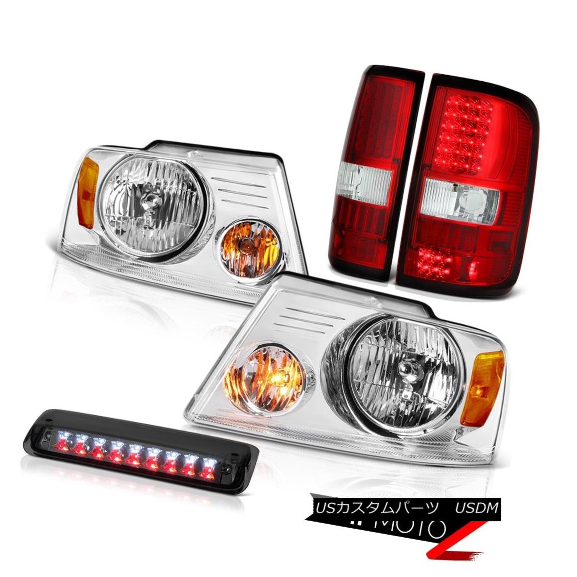 テールライト 2004-2008 Ford F150 STX Headlights 3RD Brake Lamp Tail Lights LED