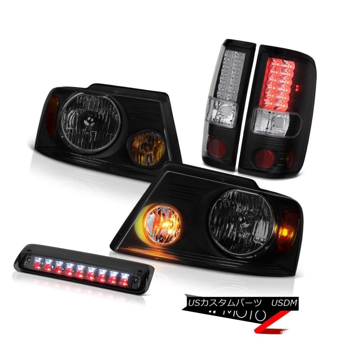 テールライト 04-08 Ford F150 FX4 Headlamps Smoked Roof Brake Lamp Taillights