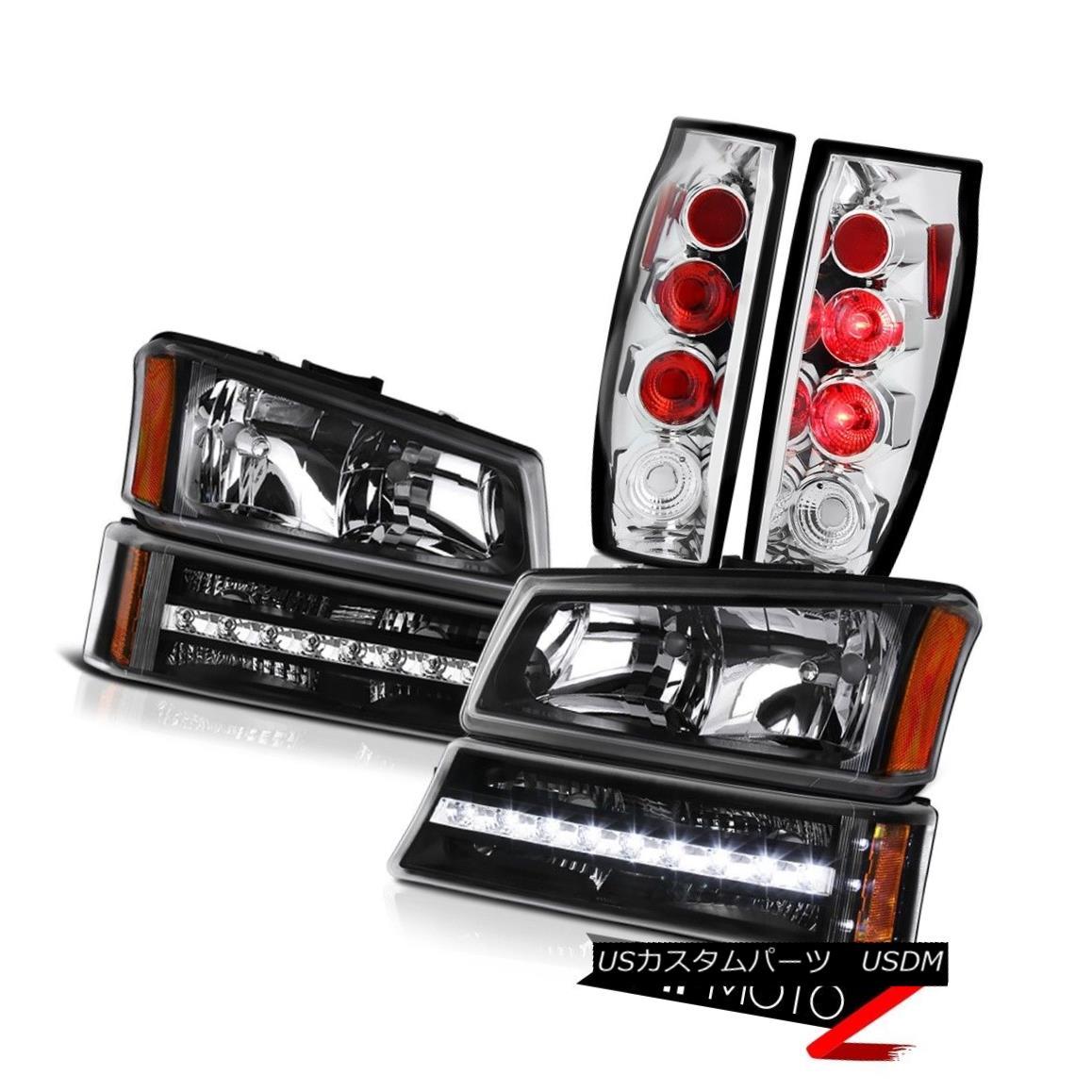テールライト 03 04 05 06 Avalanche 2500HD Chrome Taillights Raven Black Bumper Lamp Headlamps 03 04 05 06雪崩2500HDクロームティアライズレイブンブラックバンパーランプヘッドランプ