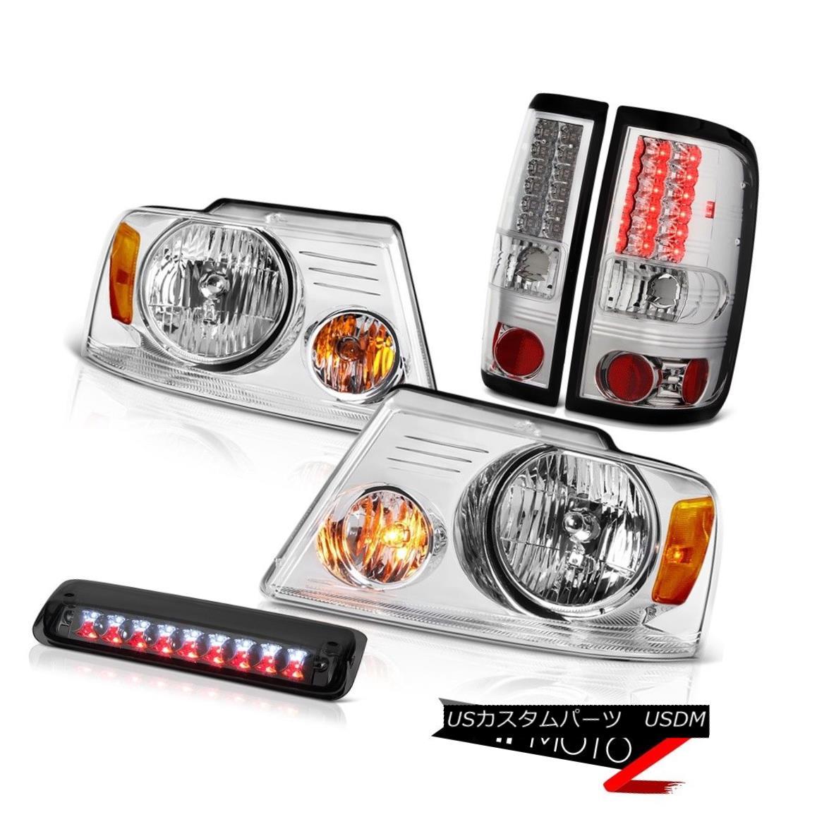 テールライト 04-08 Ford F150 STX Chrome Headlights 3RD Brake Light Tail Lamps LED