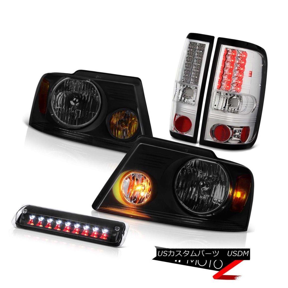 テールライト 04-08 Ford F150 FX4 Headlights Nighthawk Black Roof Cab Light Tail Brake Lamps 04-08 Ford F150 FX4ヘッドライトナイトホークブラックルーフキャブライトテールブレーキランプ
