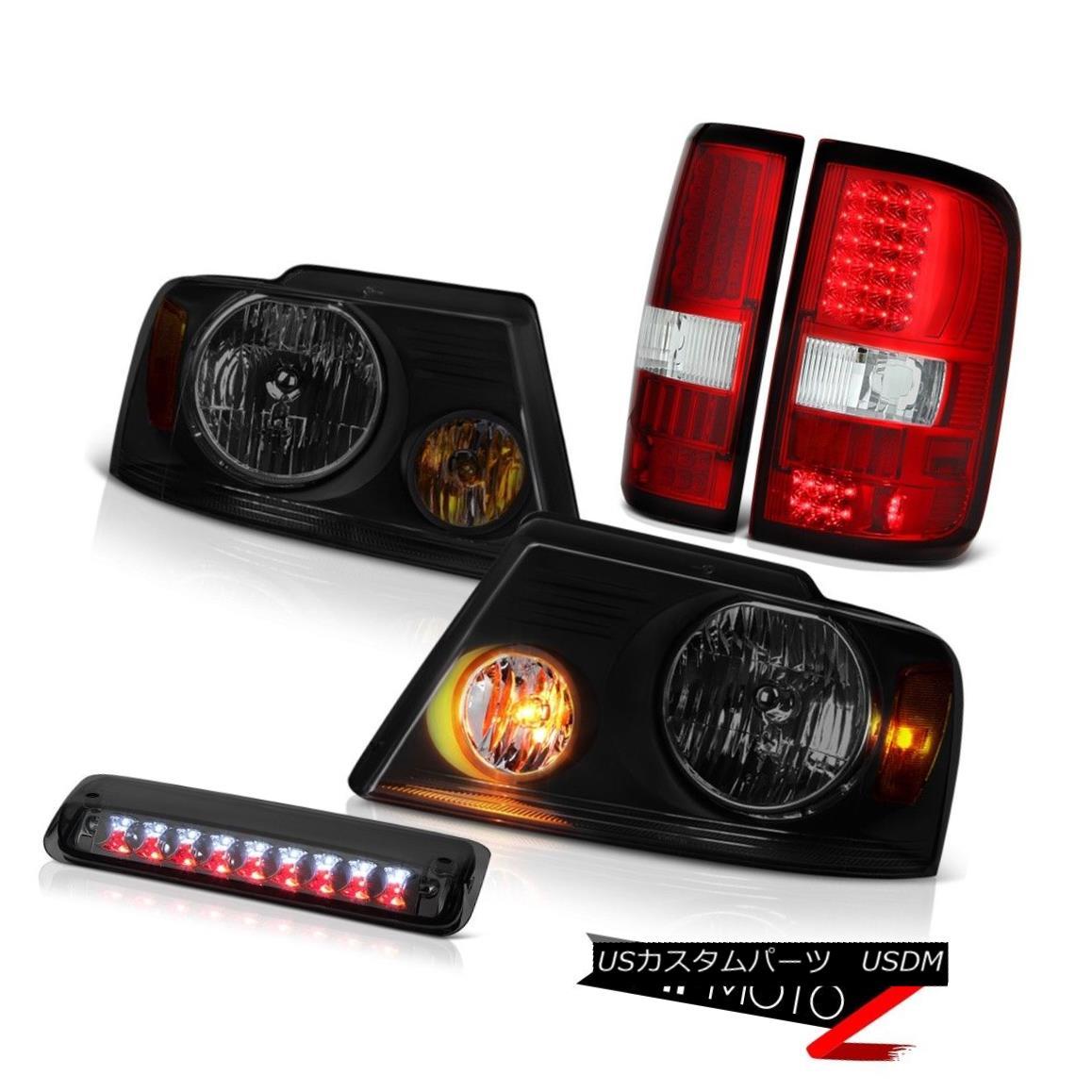 テールライト 04-08 Ford F150 XLT Darkest Smoke Headlamps Roof Brake Lamp Taillamps Assembly 04-08 Ford F150 XLT最も暗い煙ヘッドランプ屋根用ブレーキランプタイルランプアセンブリ