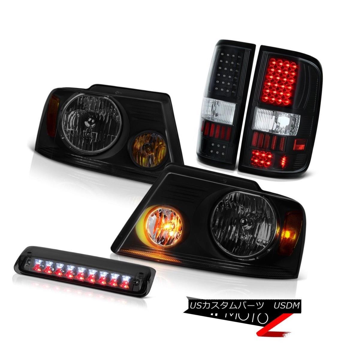 テールライト 04-08 Ford F150 Lariat Headlamps Smokey Roof Cab Lamp Taillights SMD