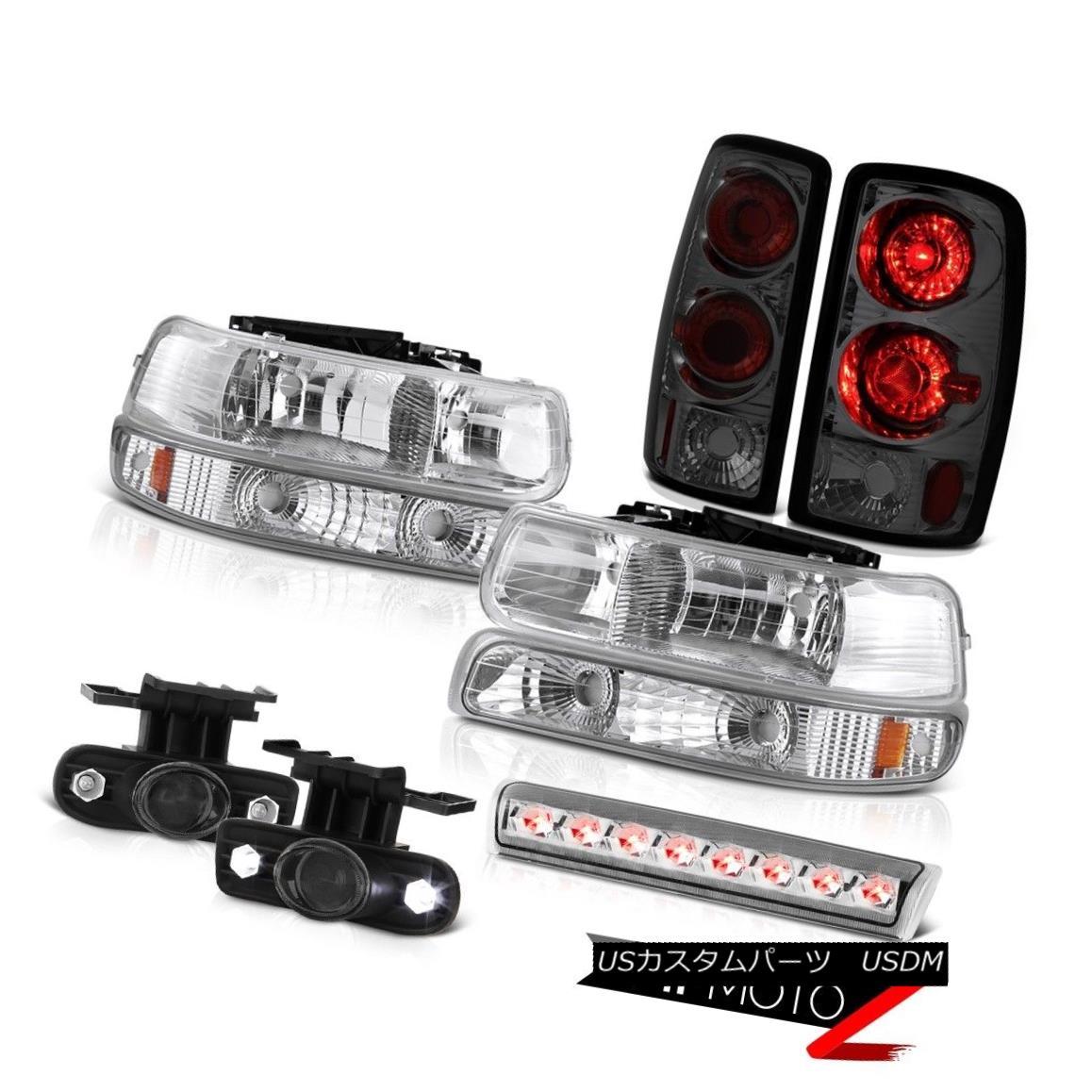 テールライト 2000-2006 Chevy Suburban LT Roof cab light dark smoke fog lights tail Headlights 2000-2006シボレー郊外LTルーフキャブライトダークスモークフォグライトテールヘッドライト