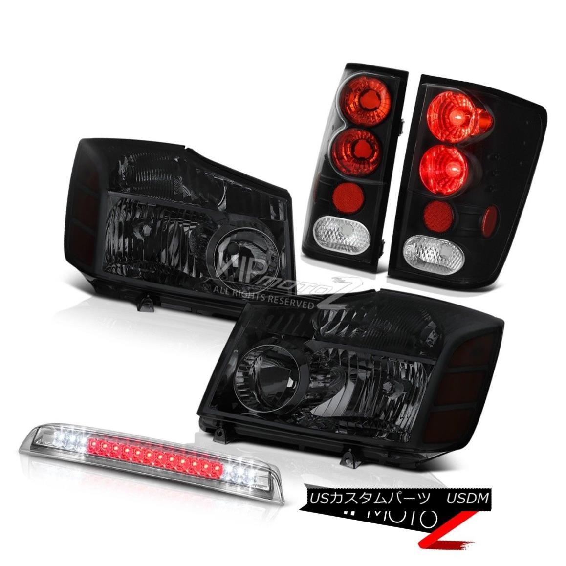 テールライト Tinted Headlight Black Tail Lamps High Stop Bright LED For 2004-2015 Titan SV タイトなヘッドライトブラックテールランプハイストップブライトLED for 2004-2015 Titan SV