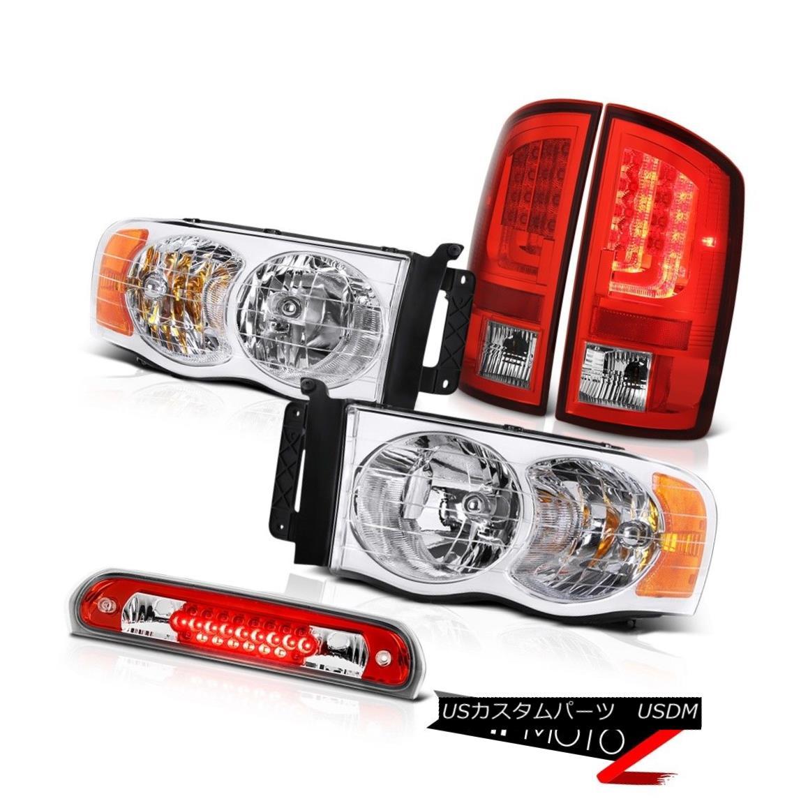 テールライト 02-05 Ram 1500 2500 3500 SLT Red Taillamps Headlamps 3RD Brake Lamp OLED Prism 02-05 Ram 1500 2500 3500 SLTレッドタイルランプヘッドランプ3RDブレーキランプOLEDプリズム