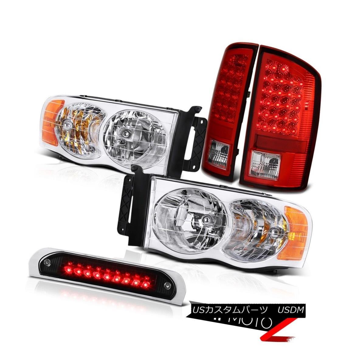 テールライト Front Clear Headlights Brake Tail Lights LED High Cargo 2002-2005 Ram PowerTech フロントクリアヘッドライトブレーキテールライトLED High Cargo 2002-2005 Ram PowerTech