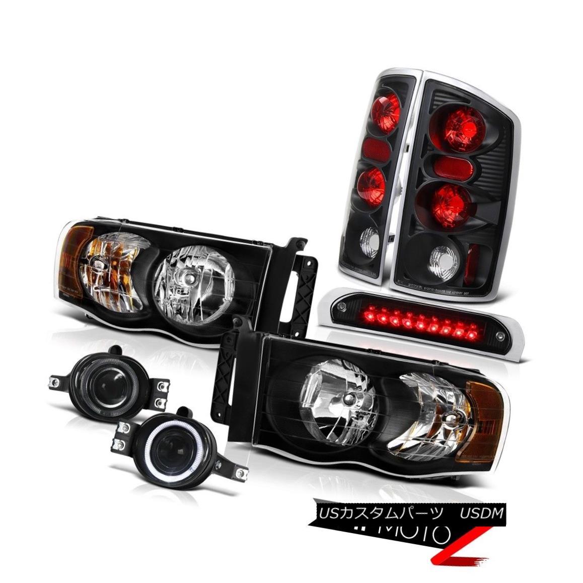 テールライト Black Headlights Rear Signal Brake Lights Smoke Fog Stop LED 02 03 04 05 Ram V6 ブラックヘッドライトリアシグナルブレーキライトスモークフォグストップLED 02 03 04 05 Ram V6