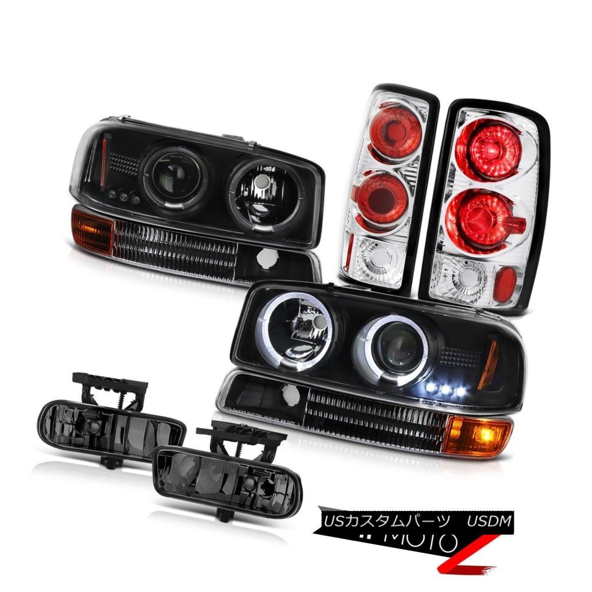 テールライト Black Halo LED Headlights Infinity Parking Tail Lights FogLamps 00-06 Yukon SLT ブラックヘイローヘッドライトインフィニティパーキングテールライトフォグランプ00-06ユーコンSLT