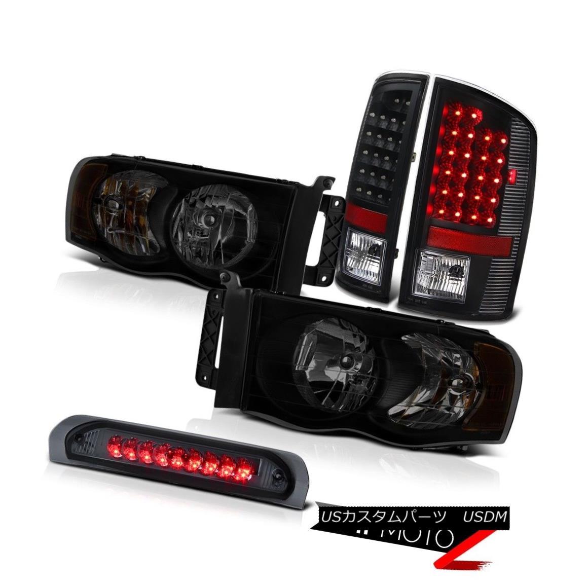 テールライト 02-05 Dodge Ram 1500 2500 5.9L Headlights High Stop Light Black Taillights LED 02-05 Dodge Ram 1500 2500 5.9LヘッドライトハイストップライトブラックテールライトLED