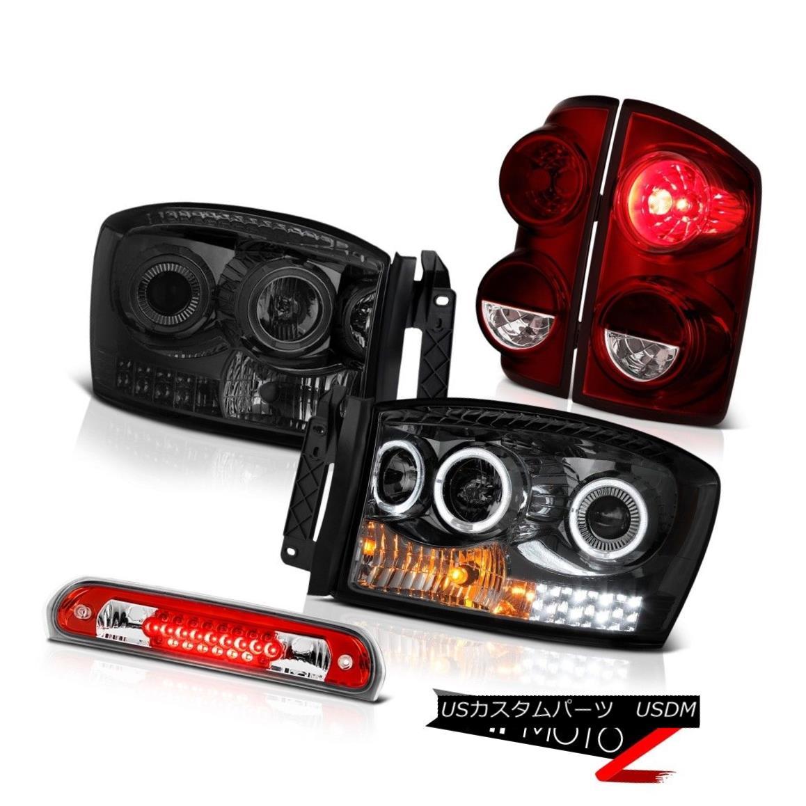 テールライト 07-08 Dodge Ram 3500 Turbodiesel Rear Brake Lamps Smoked Headlamps Third Light 07-08 Dodge Ram 3500 Turbodieselリアブレーキランプスモークヘッドランプ第3ライト