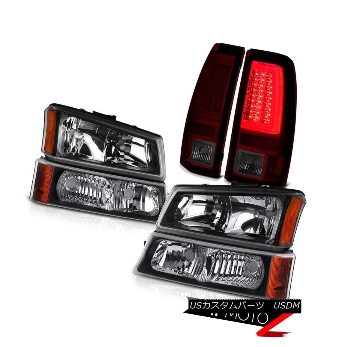 テールライト 03 04 05 06 Chevy Silverado Tail Lights Black Turn Signal Headlights