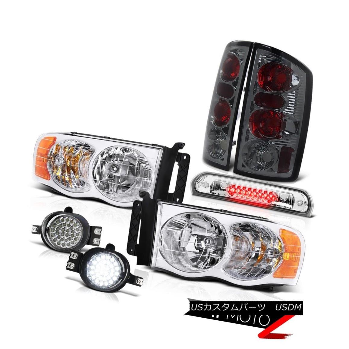 テールライト 02-05 Ram Magnum Clear Headlamp Rear Light LED Driving Foglight Euro Third Brake 02-05ラムマグナムクリアヘッドランプリアライトLEDフォーグライトユーロサードブレーキ
