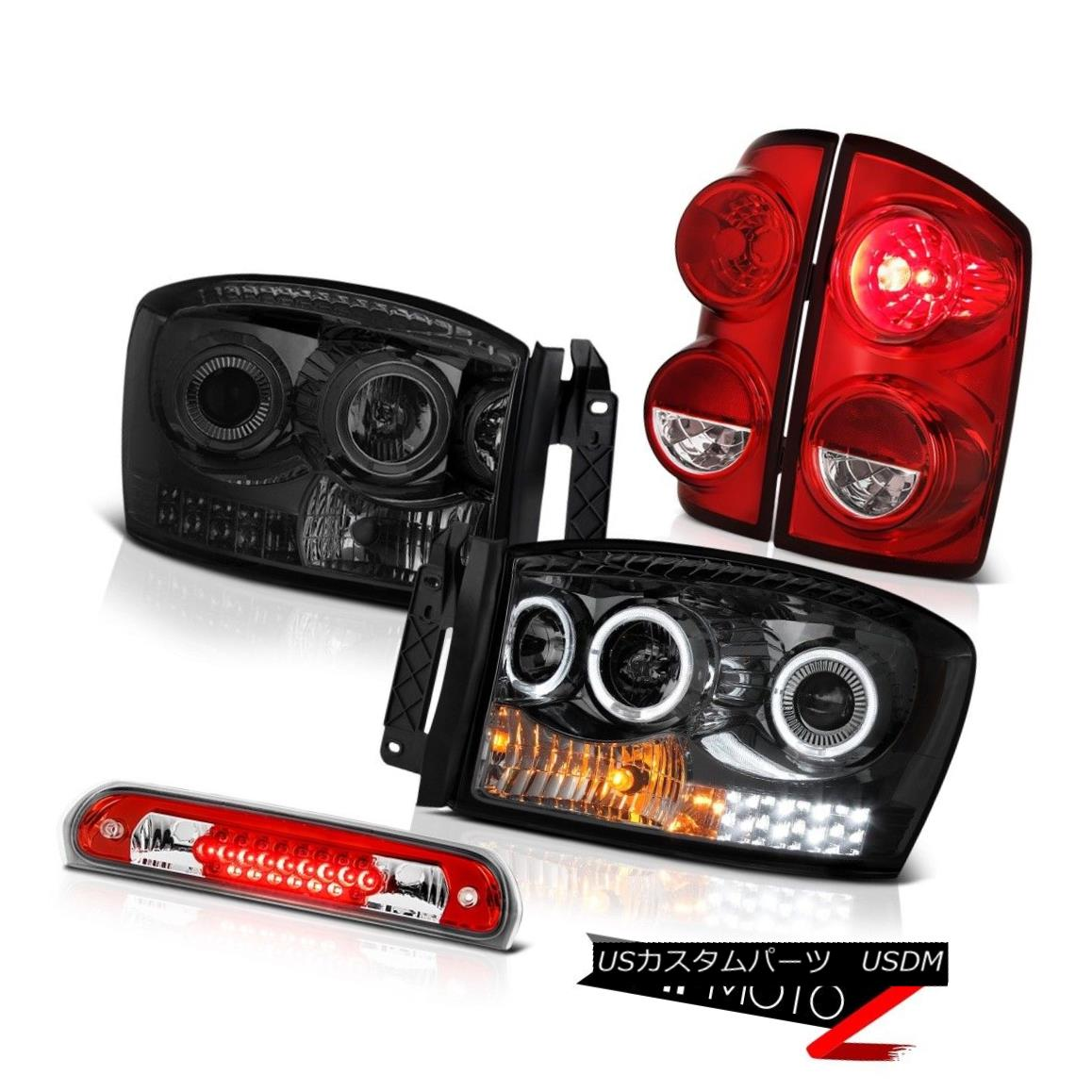テールライト 07-08 Dodge Ram 1500 SLT Taillights Titanium Smoke Headlights Third Brake Lamp 07-08ダッジラム1500 SLTターンライトチタン煙ヘッドライト第3ブレーキランプ