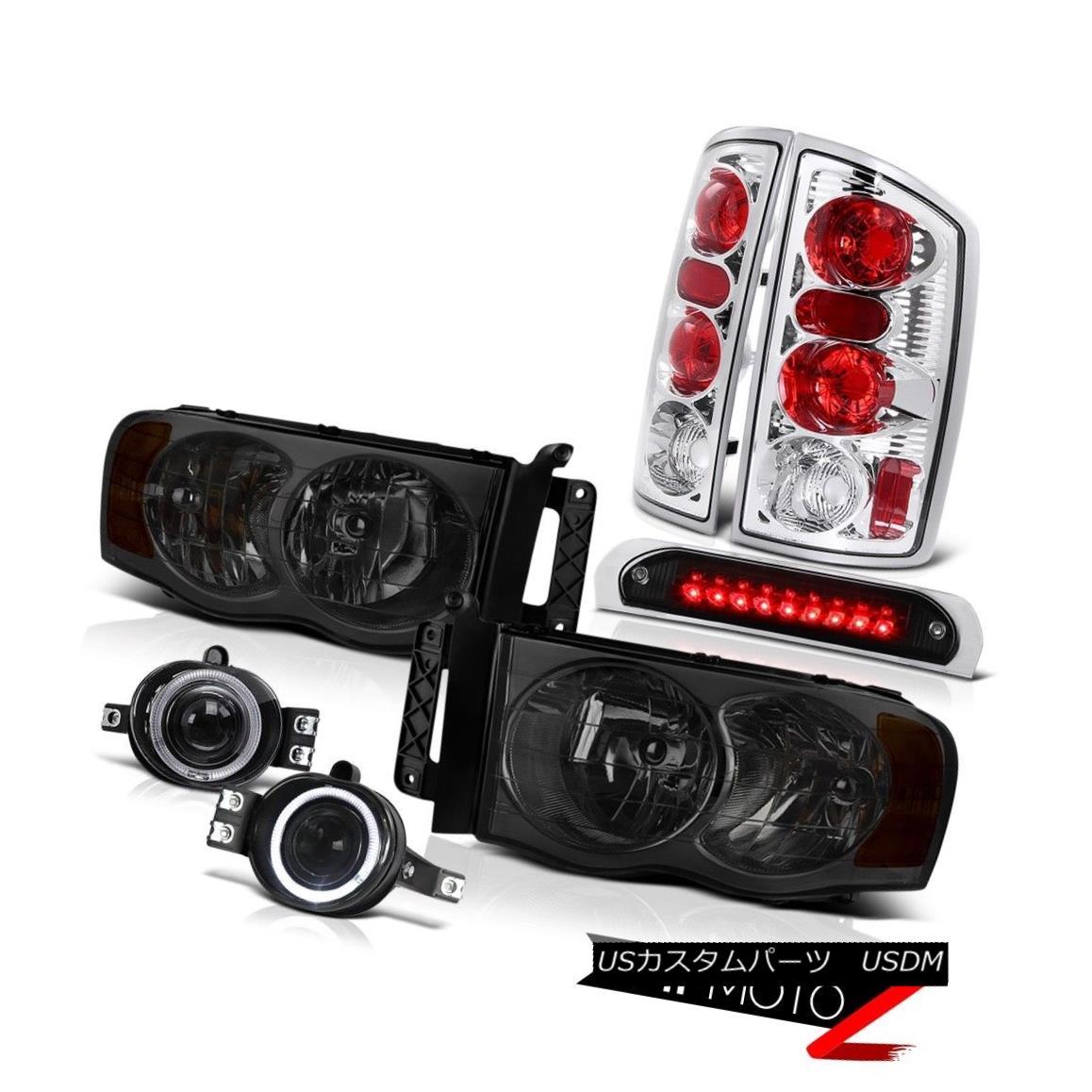 テールライト Tinted Headlights Reverse Brake Lamp Halo Fog Third Cargo LED 2002-2005 Ram 1500 着色ヘッドライトリバースブレーキランプHalo Fog Third Cargo LED 2002-2005 Ram 1500