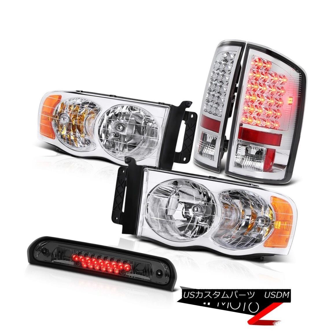 テールライト Pair New Headlights SMD Tail Lights Third Brake LED 02 03 04 05 Ram TurboDiesel ペア新しいヘッドライトSMDテールライト第3ブレーキLED 02 03 04 05 Ram TurboDiesel
