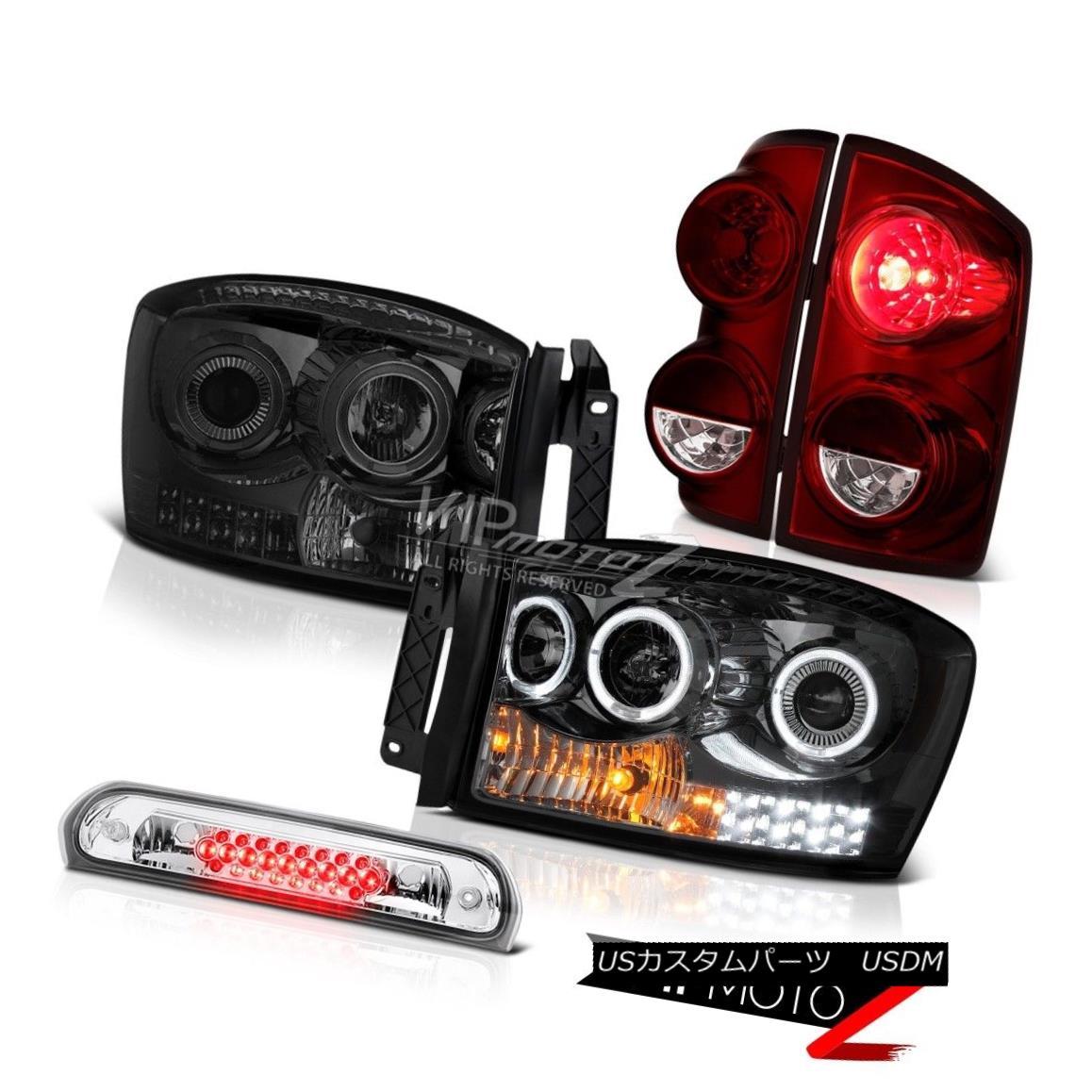 テールライト 2007-2008 Dodge Ram 1500 5.7L Tail Lights Headlights Euro Chrome Roof Cab Light 2007-2008ダッジラム1500 5.7Lテールライトヘッドライトユーロクロームルーフキャブライト