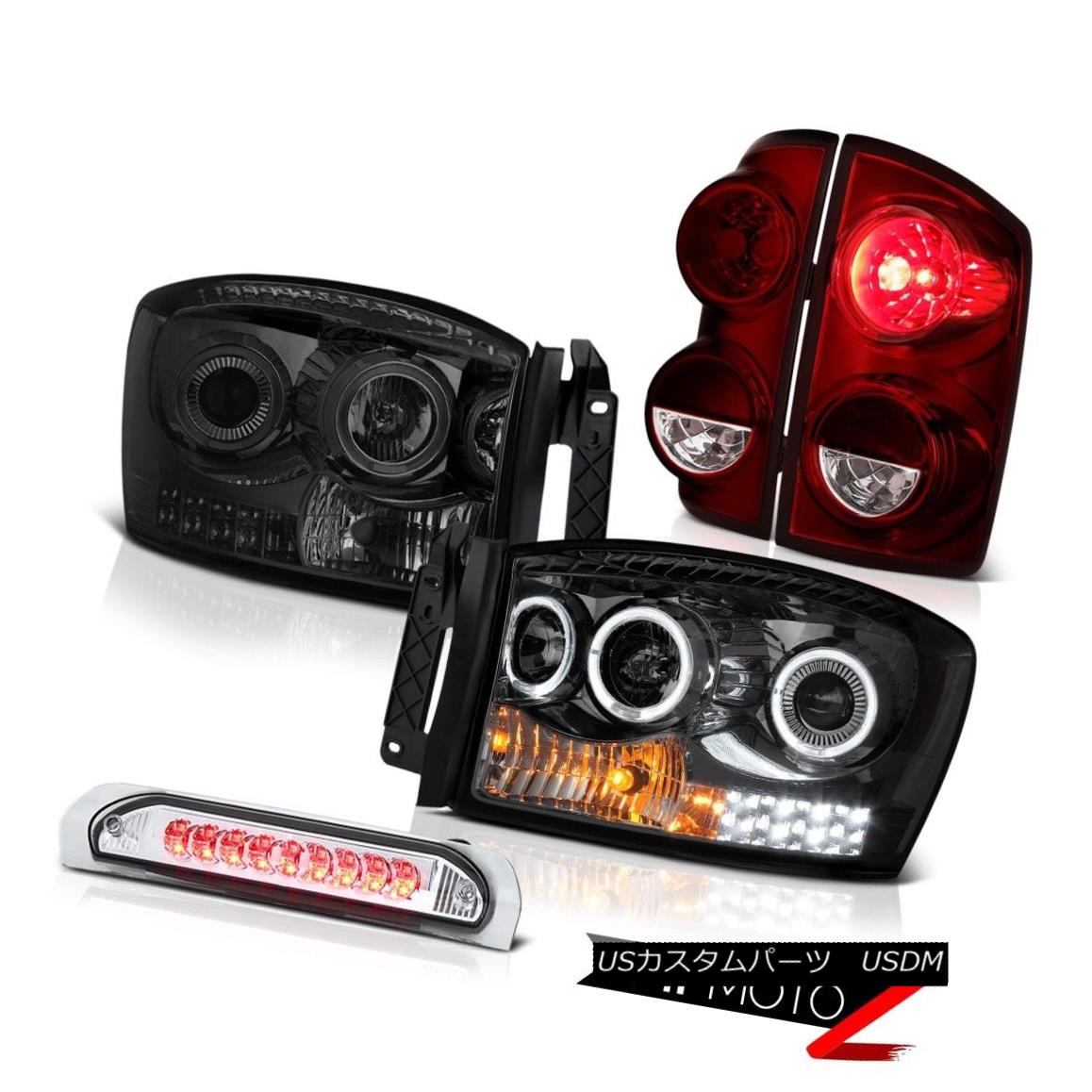 テールライト 2007-2008 Dodge Ram 1500 WS Tail Lights Smoked Headlamps High STop Lamp Oe STyle 2007-2008 Dodge Ram 1500 WSテールライトスモークヘッドランプHigh STop Lamp Oe Style