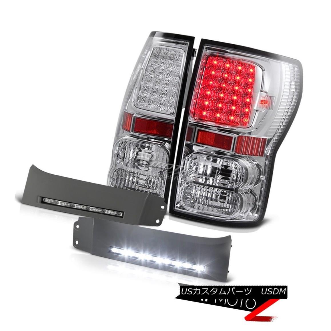 テールライト 2007-13 Tundra V8 4.7L Chrome LED Tail Lamps SMD Foglight DRL System BUmper Trim 2007?13年トンドラV8 4.7LクロームLEDテールランプSMDフォグライトDRLシステムBUmper Trim
