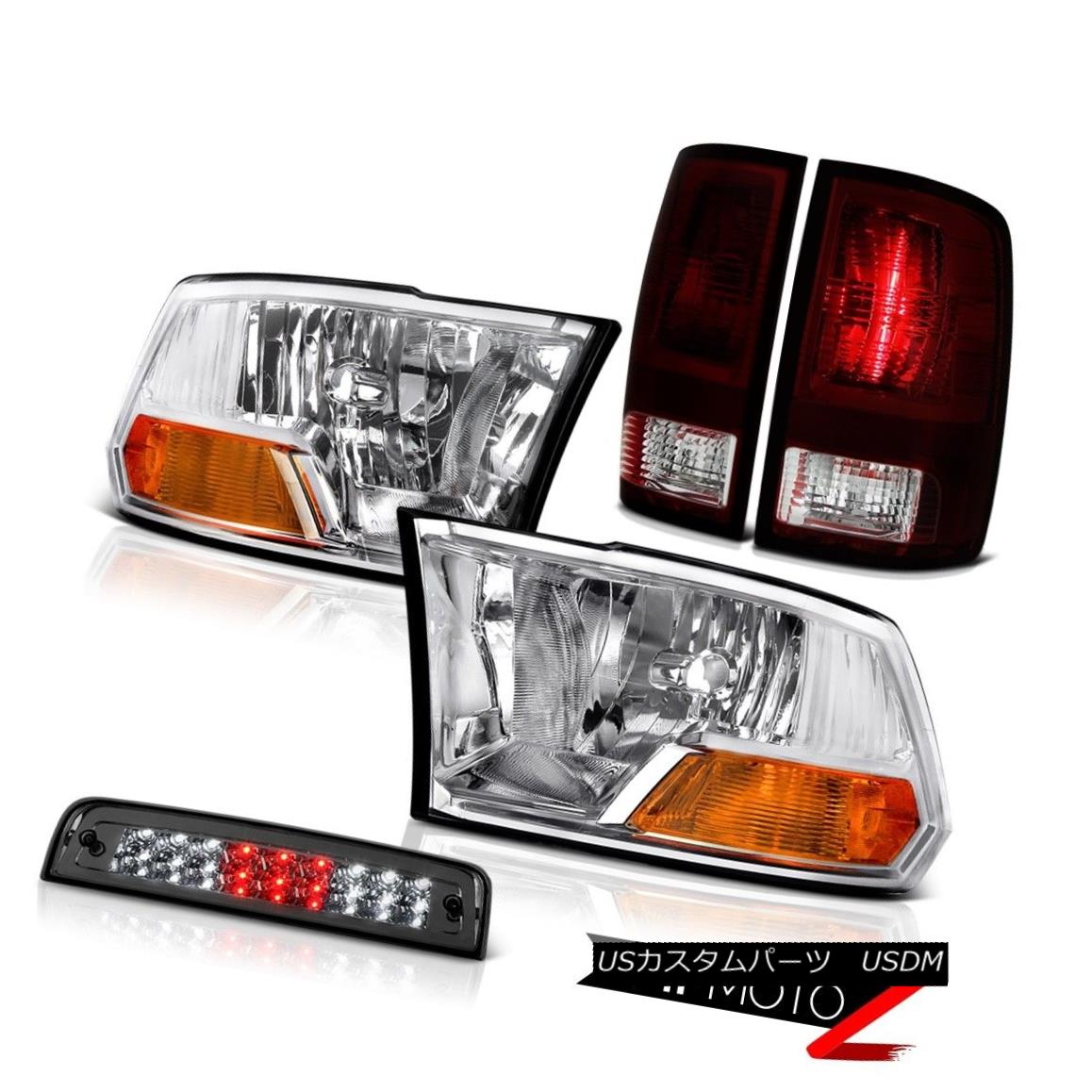 テールライト 09-18 Dodge Ram 1500 Laramie Third Brake Lamp Tail Lights Headlamps LED Assembly 09-18 Dodge Ram 1500 Laramie第3ブレーキランプテールライトヘッドランプLEDアセンブリ