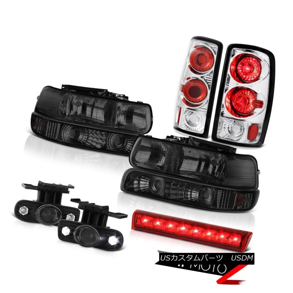 テールライト 2000-2006 Chevy Tahoe LS Rosso red high stop lamp foglights taillights headlamps 2000-2006シボレータホLSロッソレッドハイストップランプフォグライトテールライトヘッドランプ