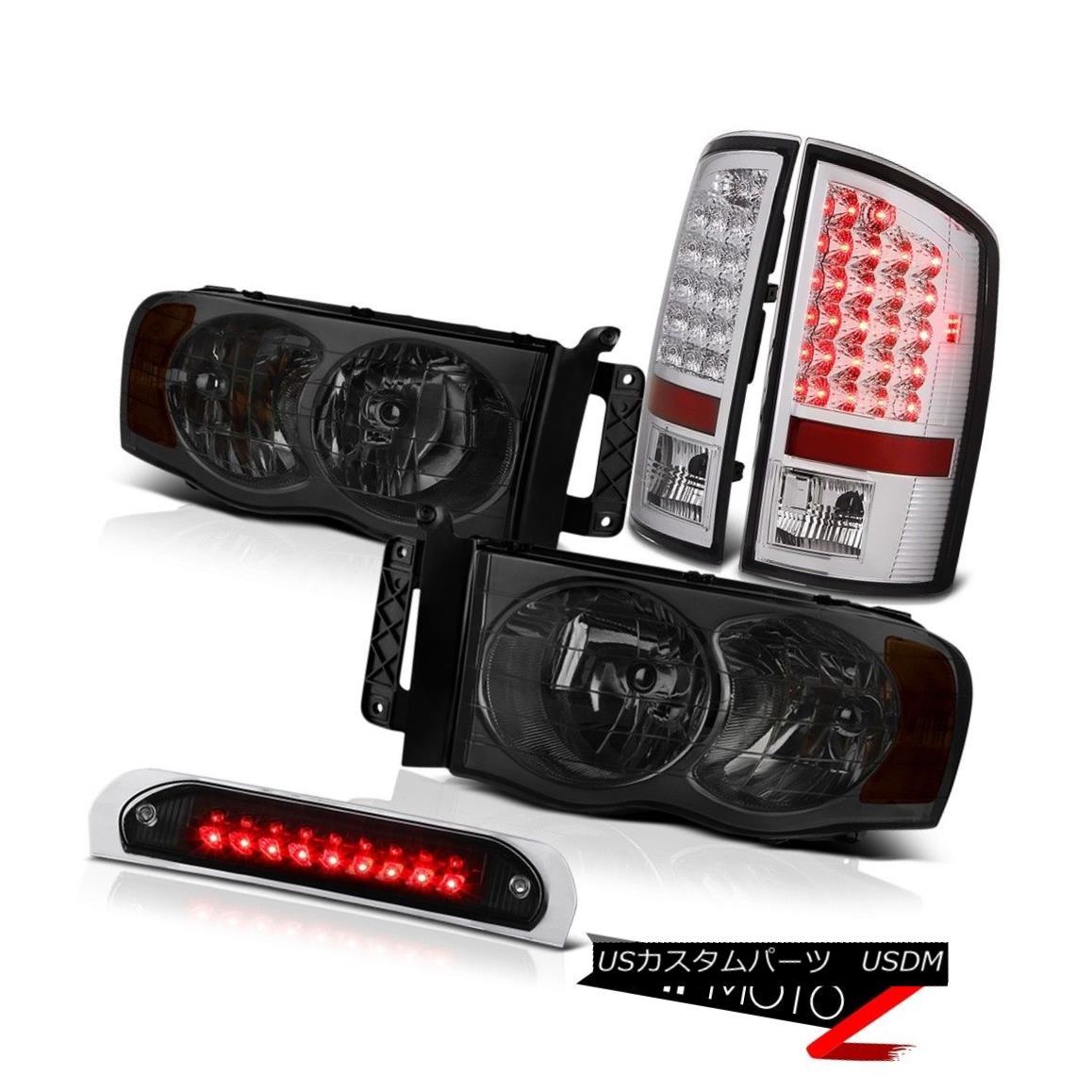 車用品 バイク用品 >> パーツ ライト ランプ テールライト L+R Smoke Headlights SMD Rear 流行 Tail 05 Black 03 RスモークヘッドライトSMDリアテールライトブラック3rd Ram L Dodge Lights + 04 気質アップ 02 3rd LED