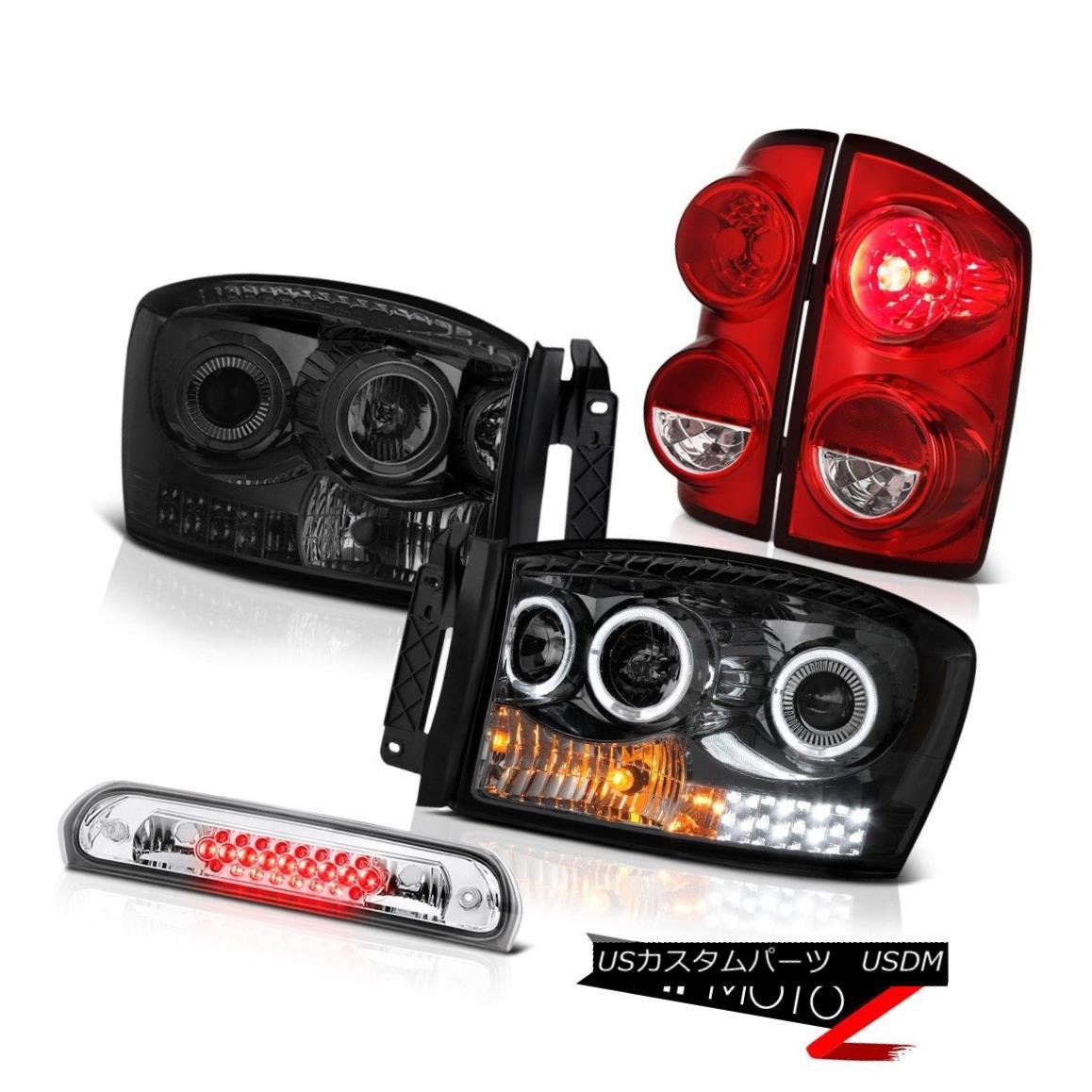 テールライト 07-09 Dodge Ram 2500 3500 SLT Wine Red Taillamps Headlamps Roof Brake Lamp LED 07-09 Dodge Ram 2500 3500 SLTワインレッドタイランプヘッドランプルーフブレーキランプLED