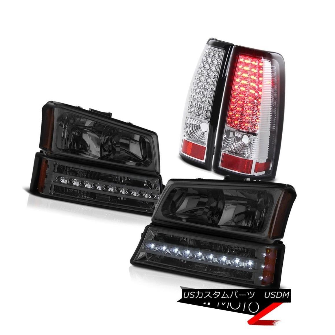 テールライト 03-06 Chevy Silverado 1500 Rear brake lamps smokey parking light headlamps SMD 03-06 Chevy Silverado 1500リアブレーキランプスモーパーキングライトヘッドランプSMD