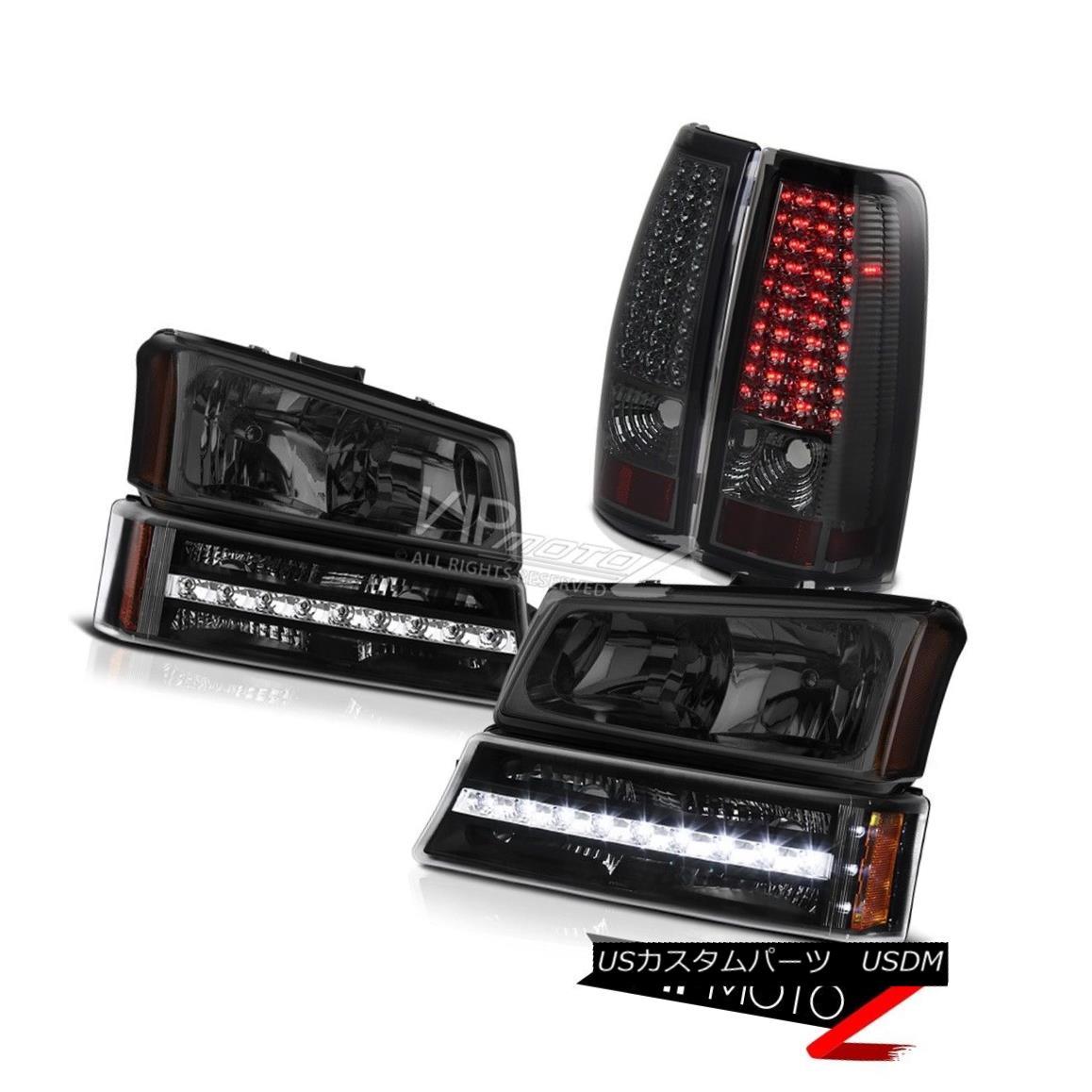 テールライト 03 04 05 06 Chevy Silverado Phantom smoke taillamps turn signal headlights LED 03 04 05 06 Chevy Silveradoファントム・スモーク・テールランプ・シグナル・ヘッドライトLED