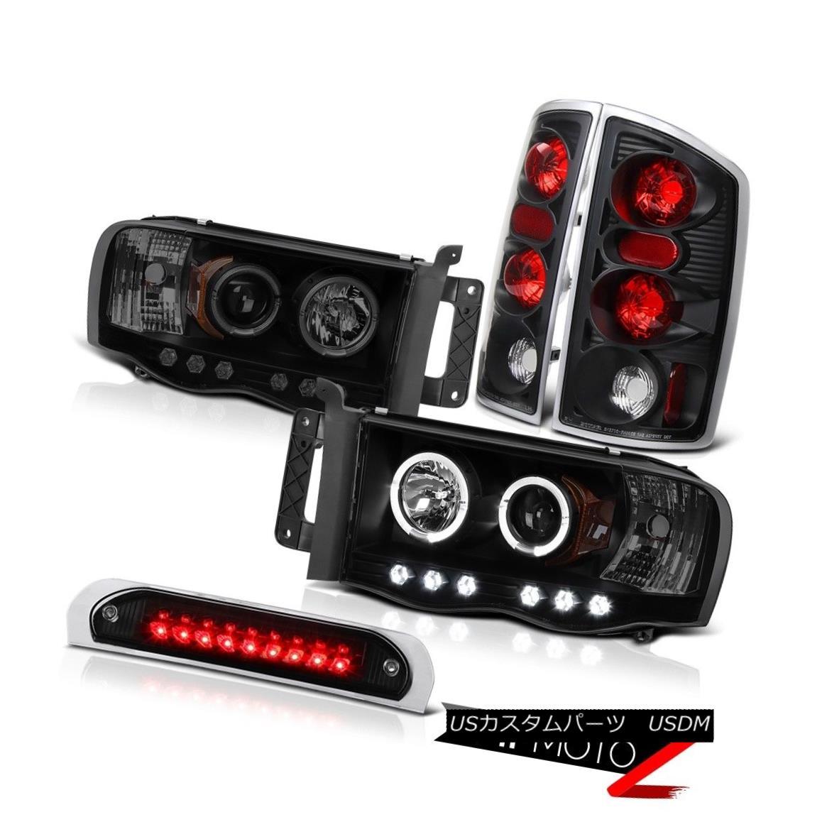 テールライト SMD DRL Headlamps Tail Brake Lights High Stop LED Black 02 03 04 05 Ram 1500 SMD DRLヘッドランプテールブレーキライトハイストップLEDブラック02 03 04 05ラム1500