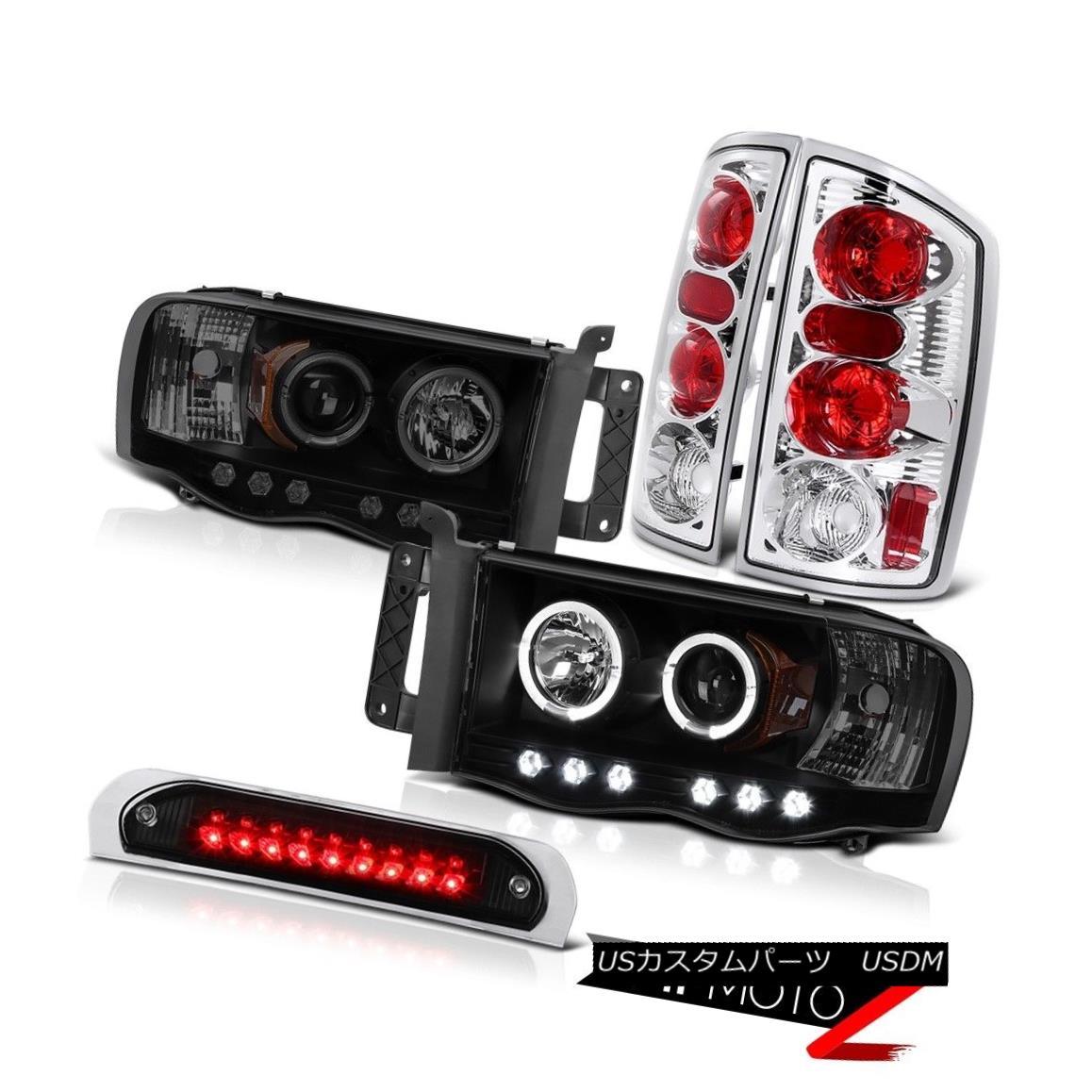 テールライト Halo LED Headlights Euro Chrome Taillights Black Brake 02 03 04 05 Ram PowerTech Halo LEDヘッドライトユーロクローム葉っぱブラックブレーキ02 03 04 05 Ram PowerTech