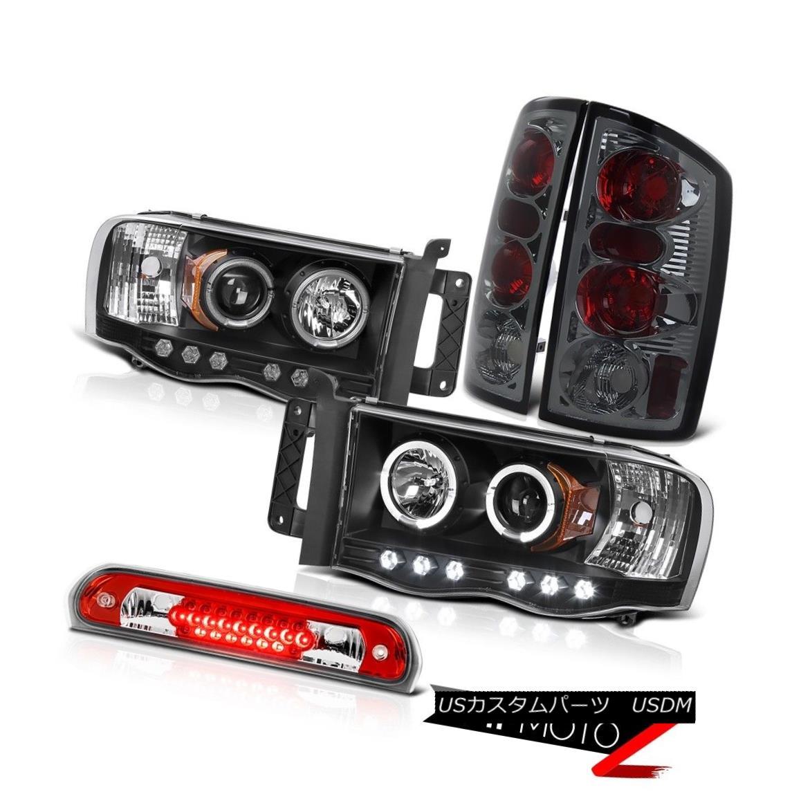 テールライト Black Halo LED Headlights Tinted Brake Tail Lights Wine Red 02 03 04 05 Ram 2500 ブラックヘイローLEDヘッドライトティンテッドブレーキテールライトワインレッド02 03 04 05 Ram 2500
